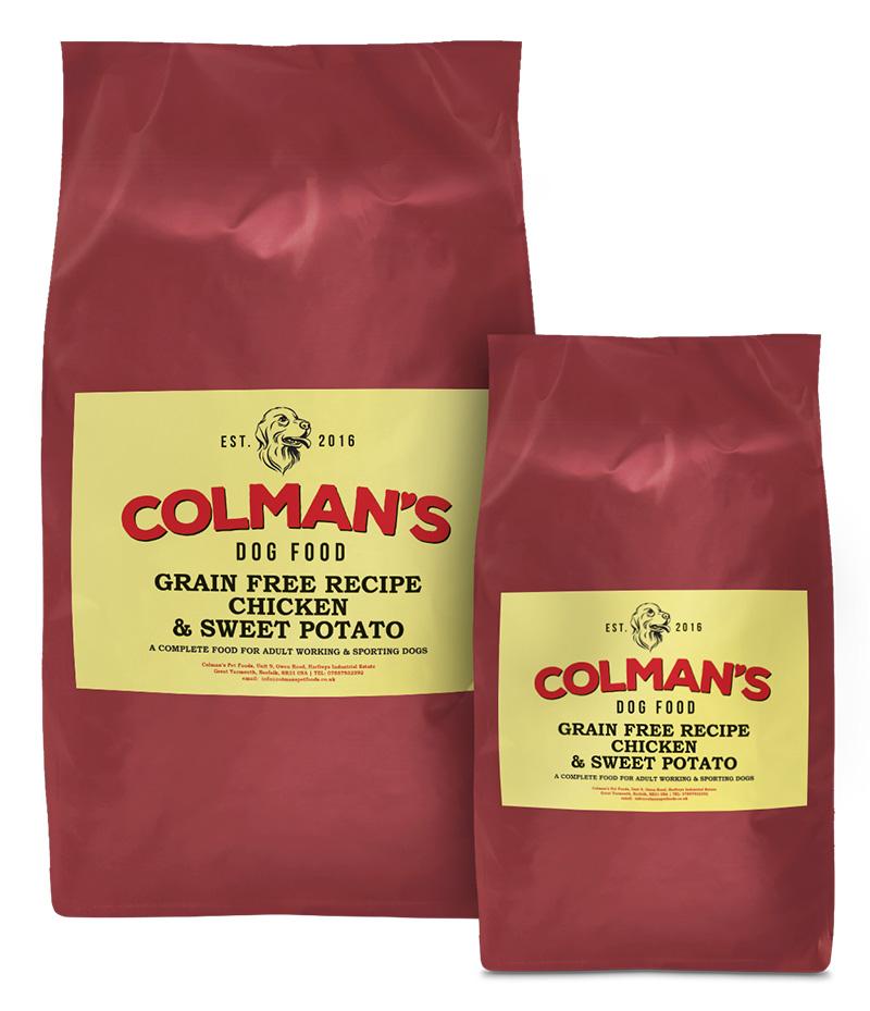 Colman's Chicken and Sweet-Potato Grain Free Working Dog Food