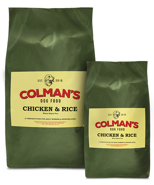 Colman's Chicken and Rice Wheat Gluten Free Working Dog Food