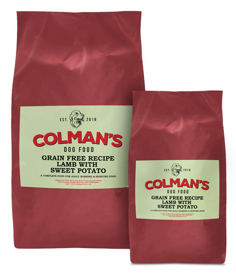 Colman's Lamb and Sweet-Potato Grain Free Working Dog Food