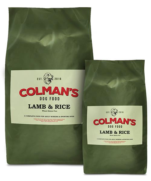Colman's Lamb and Rice Wheat Gluten Free Working Dog Food
