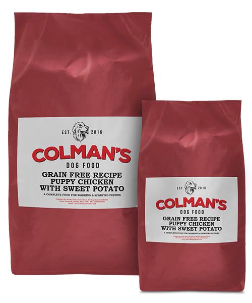 Colman's Puppy Chicken and Sweet Potato Grain Free Working Dog Food