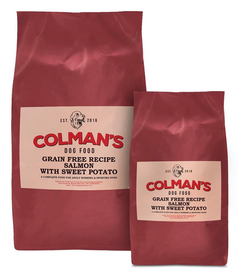 Colman's Salmon and Sweet-Potato Grain Free Working Dog Food