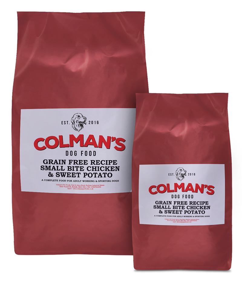 Colman's Small Bite Chicken and Sweet Potato Grain Free Working Dog Food