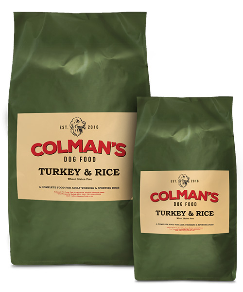 Colman's Turkey and Rice Wheat Gluten Free Working Dog Food