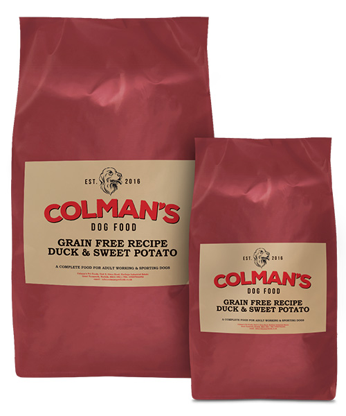 Colman's Duck and Sweet Potato Grain Free Working Dog Food